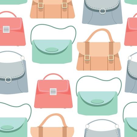 Illustration pour Seamless pattern background of colorful bags, Vector illustration - image libre de droit
