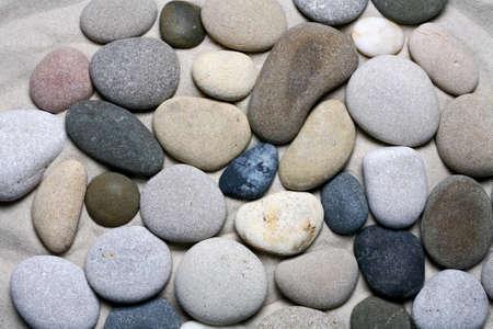 Photo pour Sea stones background, black and white pebble texture. - image libre de droit