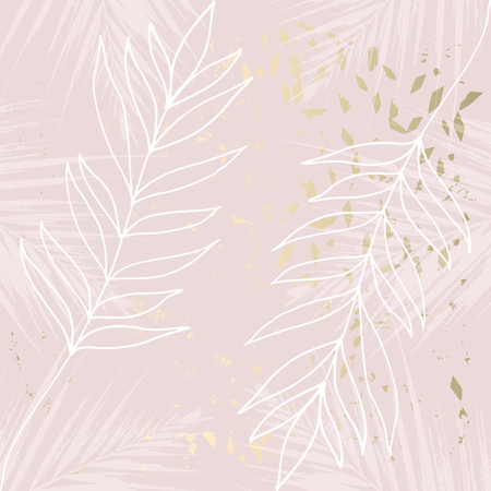 Illustration pour Tropical Worn Floral pastel rose gold marble pattern for wallpaper, textile, flooring, interior design, wedding invitation, fashion banners. Chic background for your design made in vector - image libre de droit