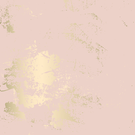 Illustration pour Chic blush pink gold trendy marble grunge texture with floral ornament. Elegant background for advertising, interior design, fashion, textile, wedding, etc - image libre de droit
