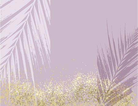 Illustration for Elegant luxury nude rose pink blush and gold glitter brush stroke background - Royalty Free Image