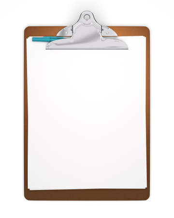 Blank Clipboard with Pen - Isolated