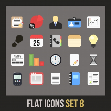 Flat icons set 8 - businnes collection