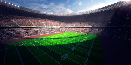 Football Arena Stadium Day render blue toning
