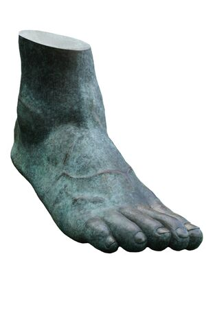 Big foot on a white background