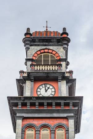 Clock tower of the Queens Royal College, Trinidads most prestigious school, Port of Spain, Trinidad and Tobago, South America
