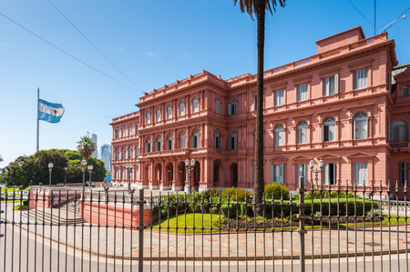 Casa Rosada (Pink House) in Buenos Aires. Its the Government house and the office of the President of Argentina