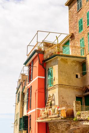 Riomaggiore (Rimazuu), a village in province of La Spezia, Liguria, Italy.