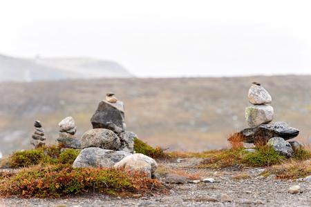 Stones in the Hardangervidda National Park, Norway
