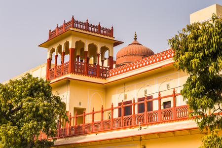 City Palace, a palace complex in Jaipur, Rajasthan, India. It was the seat of the Maharaja of Jaipur, the head of the Kachwaha Rajput clan.