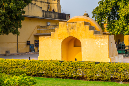 Part of the Jantar Mantar, Jaipur, Rajasthan, a collection of 19 architectural astronomical instruments completed in 1738. UNESCO World Heritage