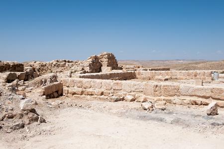 Herod Castle ruins, Machaerus, fortified hilltop palace in Jordan