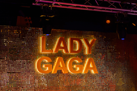 BEIJING, CHINA - APR 6, 2016: Lady Gaga at the  Beijing Madame Tussauds wax museum. Marie Tussaud was born as Marie Grosholtz in 1761
