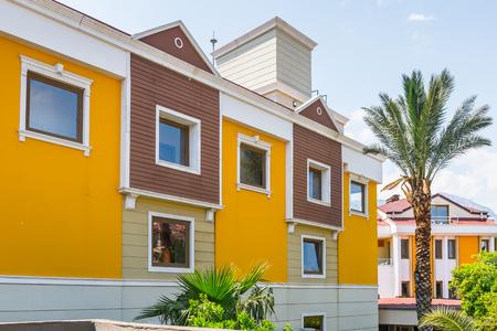 KEMER, TURKEY - APR 15, 2015: Hotel Novia Gelidonya in Kemer, Turkey. Kemer is a popular touristic destination on the Mediterranean sea coast