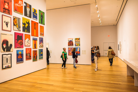 Photo pour NEW YORK, USA - OCT 8, 2015: Interior of the Museum of Modern Art (MoMA), an art museum, Midtown Manhattan, New York. It was established on November 7, 1929 - image libre de droit