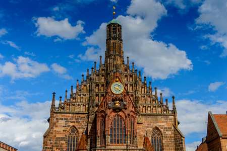 Our Lady's Church of Nuremberg, the largest in town in Franconia, Bavaria state, Germany