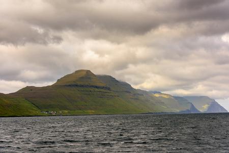 Cloudy sky of the Faroe Islands