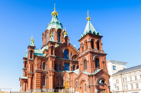 Uspenski Cathedral, an Eastern Orthodox cathedral in Helsinki, Finland, dedicated to the Dormition of the Theotokos (the Virgin Mary).