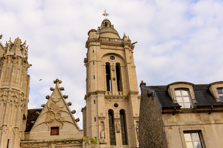 Church in Senlis, Medieval town in the Oise department,  France
