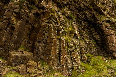 Rocks of Suduroy, the southernmost of the Faroe Islands, autonomous region of the Kingdom of Denmark