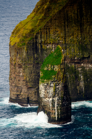 Nature of Suduroy, the southernmost of the Faroe Islands, autonomous region of the Kingdom of Denmark