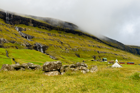 Nature of Eysturoy, Faroe Islands, autonomous region of the Kingdom of Denmark