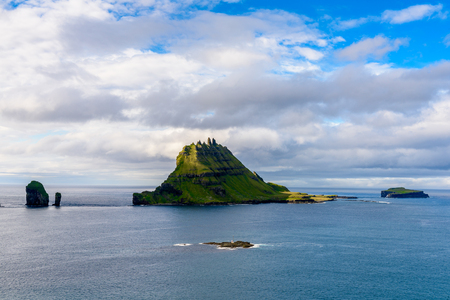 Bauatiful nature of the small rocks of the Faroe Islands
