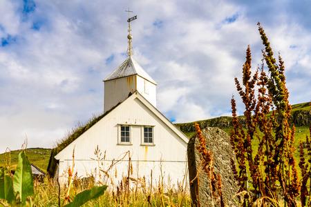 Church in Mykines, the westernmost island the Faroe Archipelago