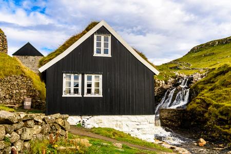 House in Mykines, the westernmost island the Faroe Archipelago