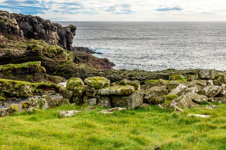 Beautiful nature of Mykines, the westernmost island the Faroe Archipelago