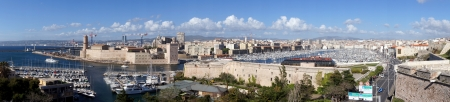 Panorama of the Harbor of Marseille, France