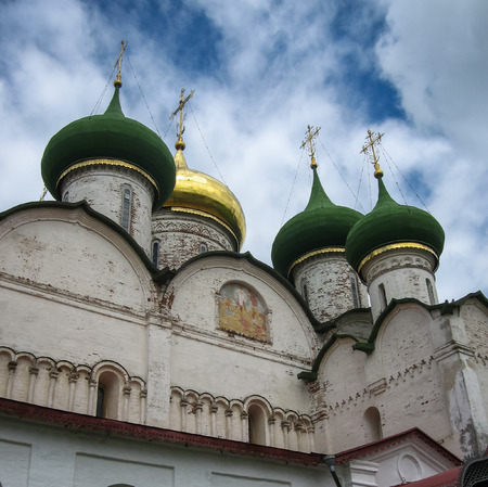 Image of White stone church in Suzdal, Vladimir region, Russia