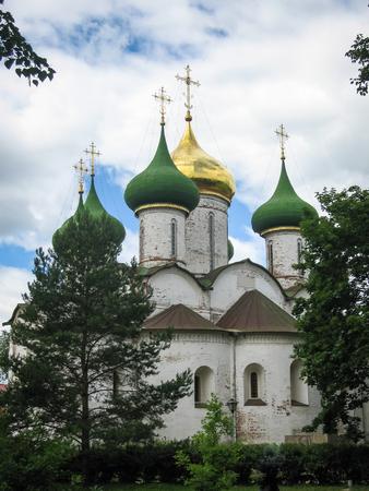 Image of White stone church in Suzdal, Vladimir region, Russia