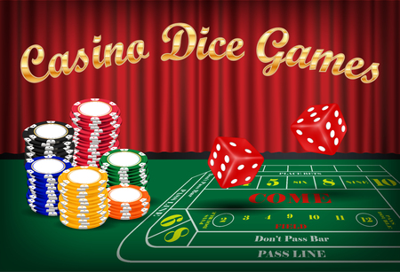 dice games with red dice and casino chip
