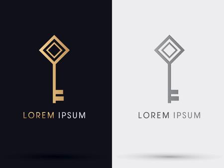 Key logo symbol icon graphic vector.