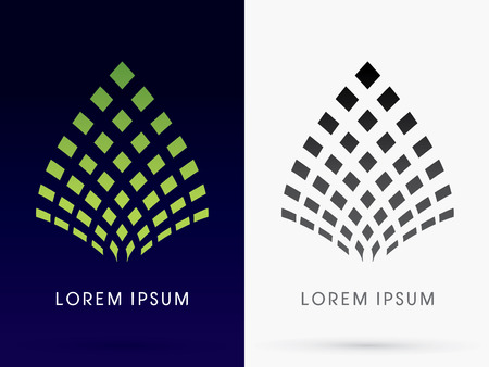 Abstract Leaf Lotus architecture building logo symbol icon graphic vector.