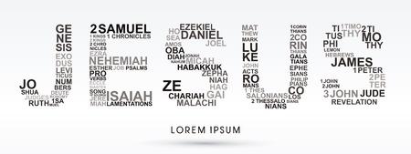 Illustration pour Jesus, designed using bible words genesis to revelation graphic vector. - image libre de droit