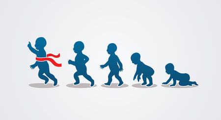 Illustration for Baby running steps graphic vector - Royalty Free Image