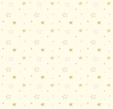 Photo for Stars on the seamless background. Vector cute pattern. Decorative texture - Royalty Free Image