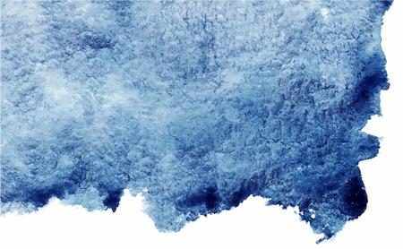 Illustration pour Watercolor navy blue abstract grunge vector texture background. - image libre de droit
