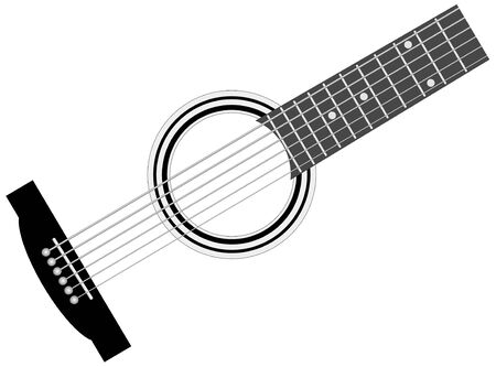 Part of musical instrument - guitar - vector illustration