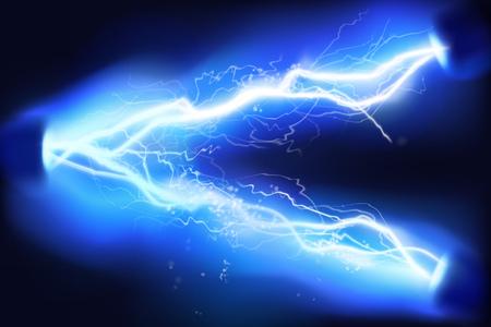 Illustration pour Heat lighting. High voltage. Energy of electric discharge. Vector illustration. - image libre de droit