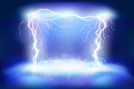 Illustration pour Stage effects. Electric energy. Heat lighting. Vector illustration. - image libre de droit