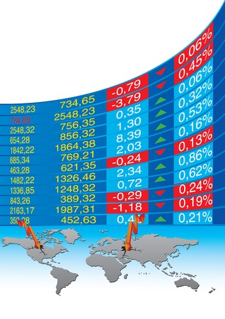 vector illustration of global economic crisis