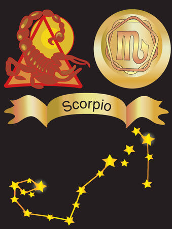Vector illustration for zodiac sign Scorpio