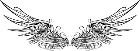illustration of wings ornaments