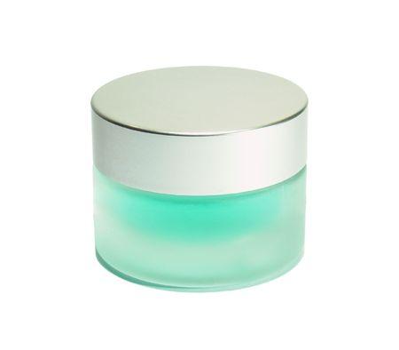 jar of cream isolated on white background