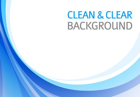Horizontal abstract blue background for business presentation