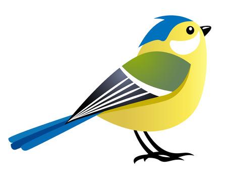 Illustration pour cute cartoon bird female character - image libre de droit