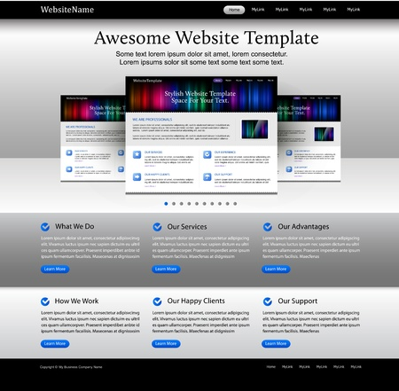 Editable web design website elements - bright template